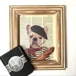FRAMED ART Print Pierre the French Bulldog